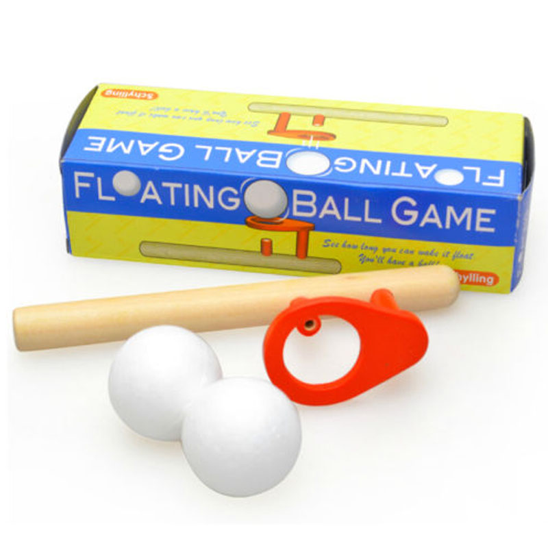 Ball Floating Game Blow Toy Outdoor Funny Sports Pipe Balance Wooden Educational Developing Kids Toys For Children Games