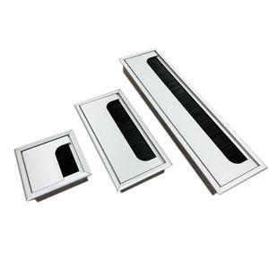 Алюминиевый квадратный прямоугольный настольный компьютер, провод, выход, отверстие, крышка