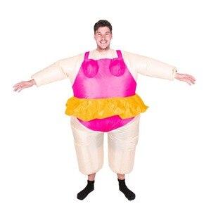Image 3 - Halloween kostüm für Frauen Aufblasbare Ballerina Phantasie Kleid Aufblasbare Party Tanzen Kostüm Fett Anzug Stag Hen Night Outfit