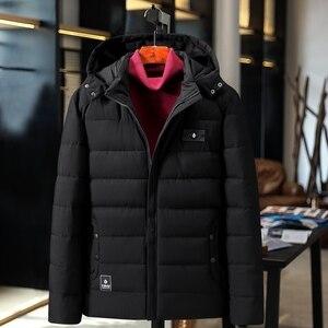 Image 2 - בתוספת גודל 9XL 4XL עבה מרופד Parka גברים חורף מעיל חדש אופנה סלעית מעיל רב כיס חם הלבשה עליונה זכר מזדמן בגדים
