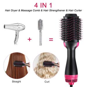 Image 4 - Professional One Step blow Hair Dryer brush volumizer 2 in 1 straightener and curler Hot Air Curling iron Rotating Rollers Comb