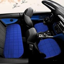 Pełne pokrycie włókno lniane pokrycie siedzenia samochodu pokrowce na siedzenia samochodowe dla Toyota HYBRID PLUG IN CAMRY PLUG IN HYBRID w Pokrowce samochodowe od Samochody i motocykle na