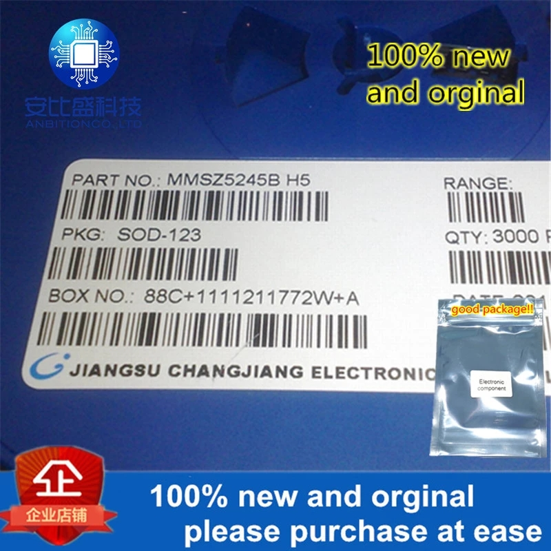 50pcs 100% New And Orginal MMSZ5245B Silk-screen H5 SOD-123 In Stock