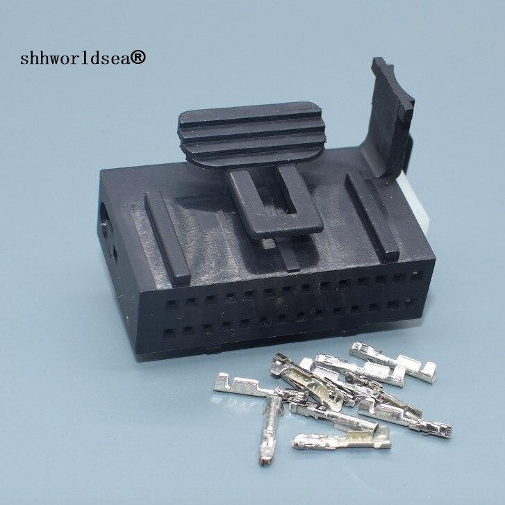 Shhworld 28 pin Электрический авто жгут проводов разъем женский Авто кабель розетка с клеммами DJ7281-0.6-21