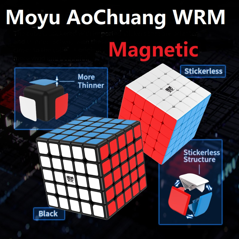 2020 Newest Moyu AoChuang 5x5 WR M 61.5mm Speed Cube AoChuang WRM 5x5x5 Magnetic Magic Puzzle Cubo Magico Competition Kids Toys