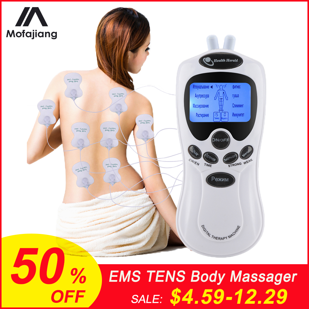 TENS Body Massager Digital Acupuncture EMS Therapy Device Electric Pulse Massager Muscle Stimulator Pain Relief Physiotherapy