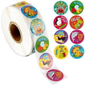 Reward Stickers Encouragement Teachers Animals Kids Cute Students 500pcs for