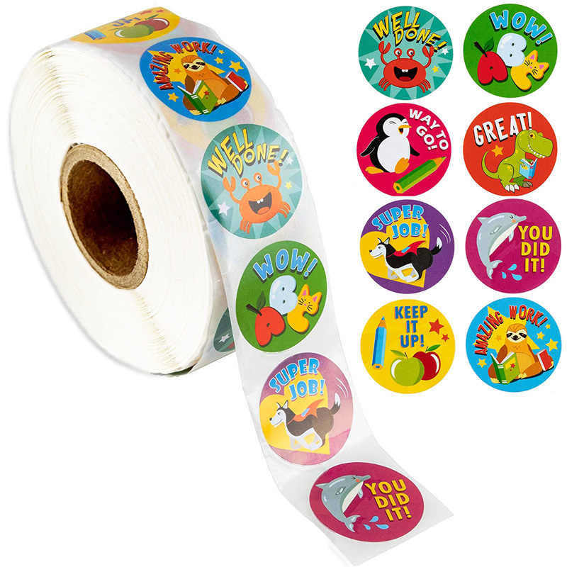 EXCITING KIDS STICKER ROLL ASSORTMENT OF 1,000 STICKERS