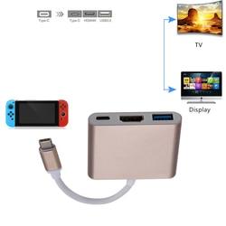 Адаптер для передачи данных Frog HDMI type-C для концентратора USB-C-HDMI Mini Dock станция HD для MacBook Xiaomi ноутбук телефон