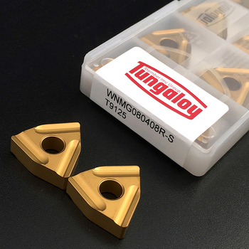 10pcs WNMG080408 R S T9125 External Turning Tool High Quality Carbide Inserts WNMG 080408 Hard Alloy CNC Lathe Tools For Steel