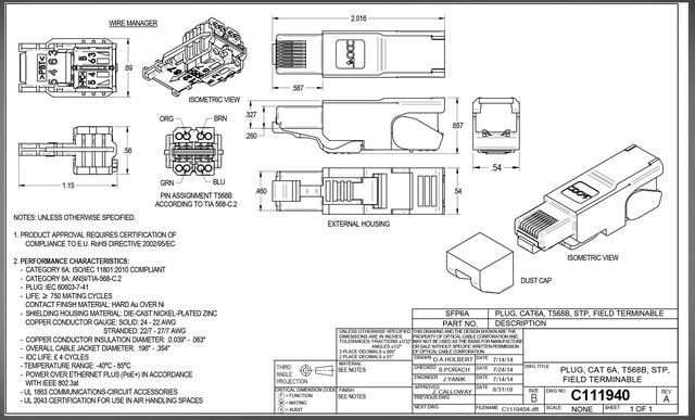 ZoeRax CAT8 /CAT7 /CAT6A Rj45 Connector Plug, Tool Free Shielded RJ45 Ends, Cat8 Field Termination Plug - 40Gbps 6