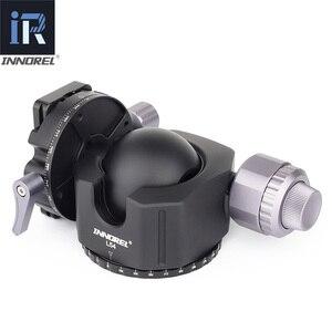 Image 3 - INNOREL rótula de bola de centro de baja gravedad L54/L44, rótula de trípode de aluminio, doble panorámica, cámara de alta resistencia, cabeza de bola, carga máxima de 30kg