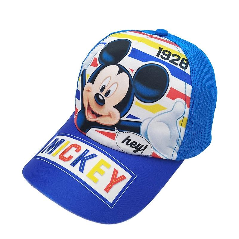 Disney Boy Hat Mickey Mouse Marvel Cars Spider-Man czapka dla chłopców Outdoor sportowa czapka baseballowa prezent urodzinowy dla dzieci kapelusz