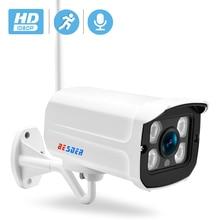 Besder áudio wi fi câmera ip cctv onvif segurança 720p 1080p fios sem fio câmera de vigilância ip com microfone slot para cartão sd