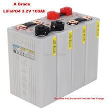 4 TEILE/LOS EINE Grade CALB 3,2 V LiFePO4 100Ah CA100 Kunststoff Fall Batterie Max 3C Entladung Für 12V 100Ah RV Batterie Pack