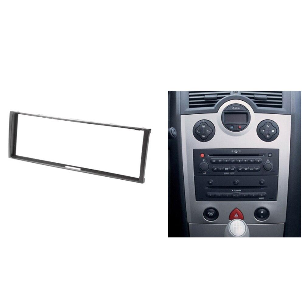 Renault clio modus megane 경치 좋은 스테레오 대시 키트 피팅 설치를위한 하나의 din car audio fascia facia face panel frame