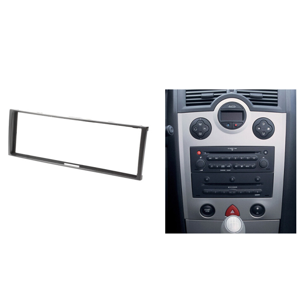 Un Din Voiture Audio Fascia pour RENAULT Clio Modus Megane Scenic Stéréo Dash Kit D'installation de Bord Visage Cadre de Panneau