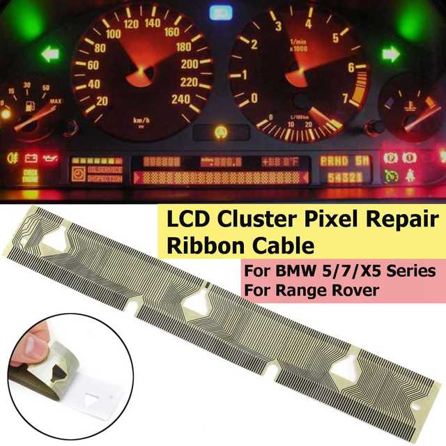 2018 lcd cluster pixel reparação para bmw para-bmw e38 e39 e53 x5 velocímetro reparação de pixel fita cabo painel do carro pixel morto ferramenta