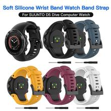 Soft Silicone Wrist Band Watch Strap Replacement For SUUNTO D5 Dive Computer