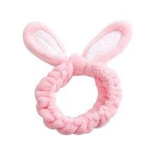 Bandeaux de maquillage pour femmes, 1 pièce, oreilles de lapin, doux et extensible, accessoires pour cheveux, doux, rose, lavage du visage