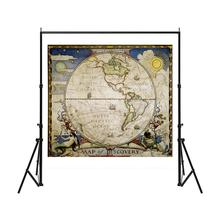 150x150cm Western Hemisphere Vintage Map Of Discovery No-fading Foldable Medieval Style