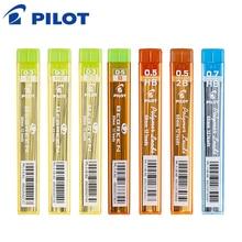 Пилот полимерные грифели 10 шт./лот механические стержни для карандаша 0,3/0,5/0,7 активный свинцово-60 мм 2B/HB PPL-3/5/7