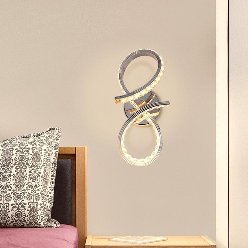 Современная стильная хромированная настенная Светодиодная лампа