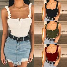 Women Sexy Off Shoulder Casual Summer Tank Top T-Shirt Crop Cami Tops striped cami handkerchief t shirt
