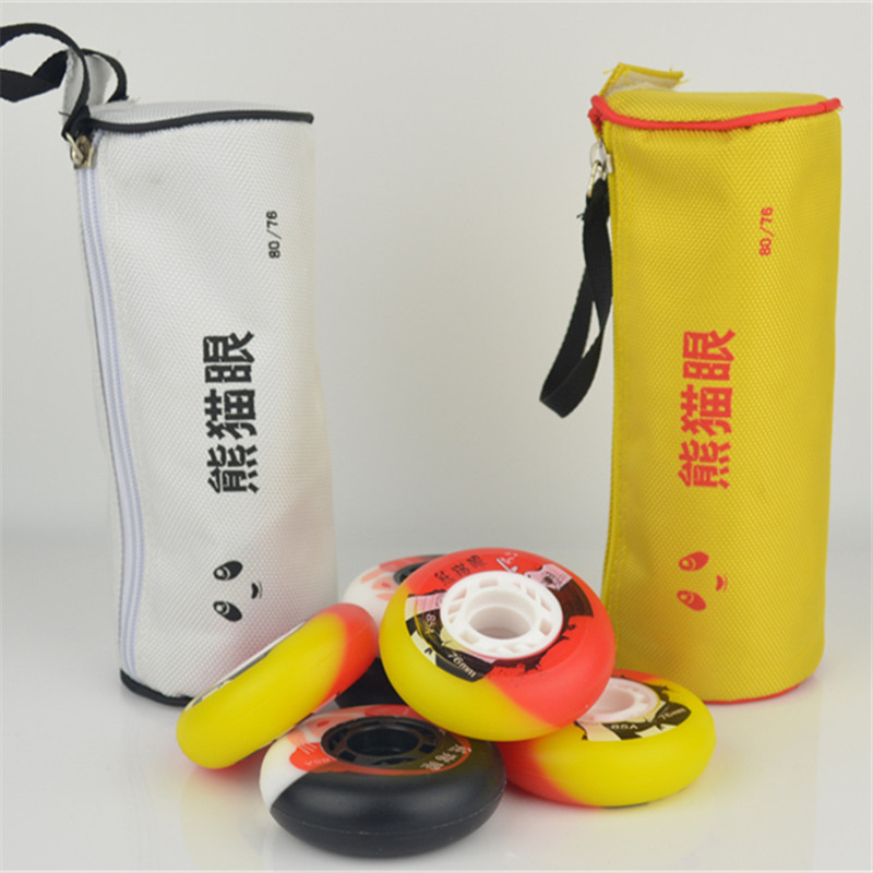 [72mm 76mm 80mm]Original 85A Panda Eye Skate Wheels Roller Skates Wheels For SEBA RB Skating Sliding Wheels FSK 4pcs/set