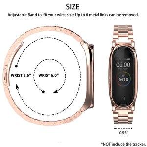 Image 5 - Für Mi Band 5 Strap Metall Armbänder Armband Mi Biegen 4 Gürtel für Xiaomi Correas Miband 3 Pulseira Handgelenk Uhr smart Zubehör