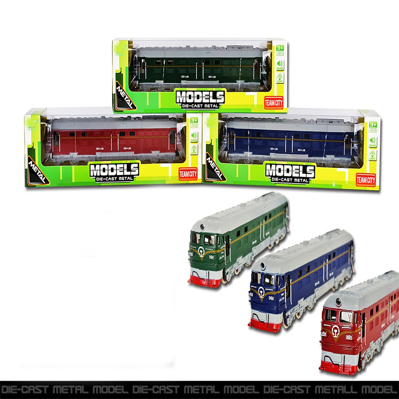 Children Model Retro Train Warrior Alloy Models Car Dongfeng Train With Sound And Light Alloy Car Toy