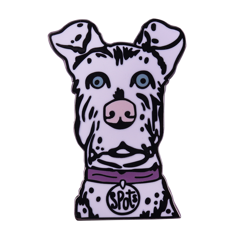 Spots Dog Pin Wes Anderson Film Brooch Isle Of Dogs Inspired Badge Cute Animal Lover Gift Brooches Aliexpress