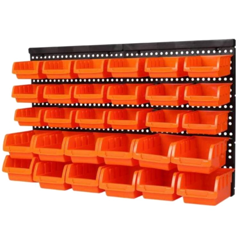 Hardware Tools Hanging Plate Garage Workshop Storage Rack Screw Wrench Classification Parts Box Parts Box Instrument Box