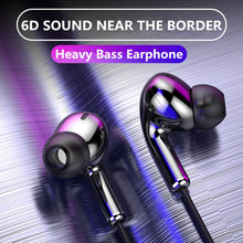 High Bass Headsets Sports Earphones Dual Drive Stereo In-Ear Wired Earphone With Microphone Computer