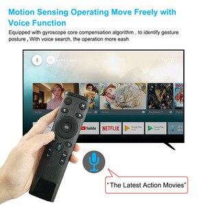 Image 2 - Q5 Control remoto por voz Fly Air Mouse 2,4 GHz, micrófono inalámbrico de Google, mando a distancia con giroscopio para Android TV Box T9/X96 mini