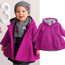 New Hot Kids Baby Girls Winter Windbreaker Parka Jacket Coat Toddler Uniform Long Sleeve Button Hooded Trench Children Outerwear