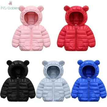 NEW Winter jackets girls baby girls clothes Children's jackets With Ears Hat Hooded clothing autumn Cotton Clothes for boys 2020 reima jackets 8689577 for girls polyester winter fur clothes girl