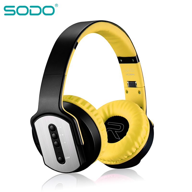 Original SODO Bluetooth Headphones Running Sports Fashion Stereo Wireless Folding Headphones MH2 Speaker and Headphone 2 in 1