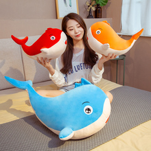 Hot New Huggable Colorful Whale Plush Toys Stuffed Sea Animal Doll Soft Shark Pillow Cushion Kids Baby Toy Lovely Birthday Gift killer whale doll pillow whale orcinus orca black and white whale plush toy doll shark kids boys girls soft toys