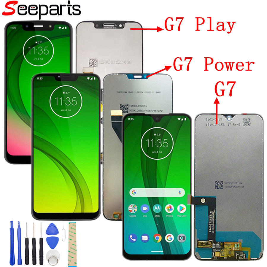 ORIGINAL G7 LCD For Moto G7 Power Display XT1955 LCD G7 Play Touch Screen Digitizer G7 Play LCD Replacement XT1952 LCD