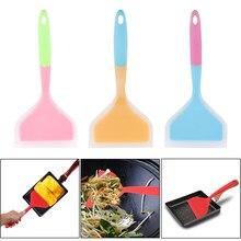 Espátula de silicone antiaderente grande pizza pá de alta temperatura resistência turners utensílios de cozinha levantadores de alimentos ferramentas de cozinha