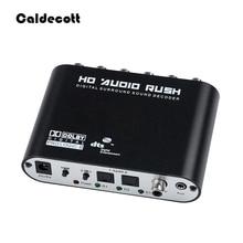 Caldecott 5.1 CH オーディオデコーダ SPDIF 同軸 RCA DTS AC3 光学デジタルアンプアナログ Converte アンプ HD オーディオラッシュ