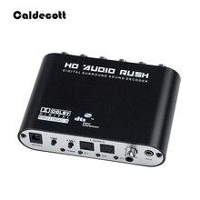 Caldecott 5.1 CH ses şifre çözücü SPDIF koaksiyel RCA DTS AC3 optik dijital amplifikatör Analog dönüştürücü amplifikatör HD ses Rush