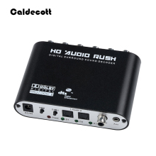 Caldecott 5.1 CH audio decoder SPDIF Coaxial to RCA DTS AC3 Optical digital Amplifier Analog Converte amplifier HD Audio Rush