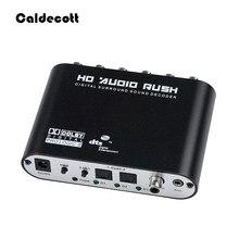 Caldecott decodificador de áudio 5.1 ch, decodificador de áudio spdif coaxial para rca dts ac3, amplificador digital óptico, analógico, amplificador de áudio hd