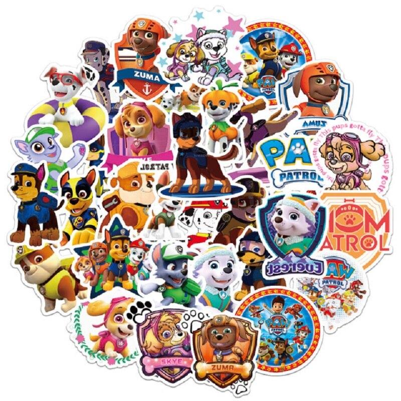 50pcs/set Paw Patrol Dog Sticker Toy Patrulla Canina Action Figures Toy Kids Children Toys Gifts
