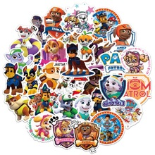 цена 50pcs/set Paw patrol dog Sticker toy Patrulla Canina Action Figures Toy Kids Children Toys Gifts онлайн в 2017 году