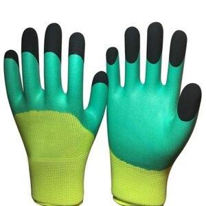 Противоскользящие садовые перчатки для защиты рук садовые ноские перчатки для выгребания садовые латексные рабочие перчатки