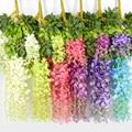 12 шт., 110 см, Глициния венок из искусственных цветов, украшение для свадьбы, сада, улицы, украшение «сделай сам» для вечерние ринки, дома, сада