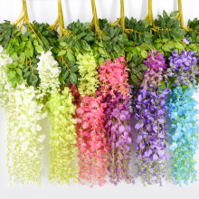 12Pcs 110CM Wisteria Artificial Flower Wreath Hanging On The Wedding Garden Outdoor Greening DIY Party Home Garden Decoration